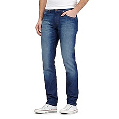 Wrangler - Bostin dark blue wash slim fit jeans