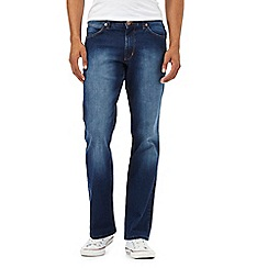 Wrangler - Jacksville blue mid wash bootcut jeans