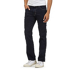 Wrangler - Big and tall dark blue rinse wash jeans