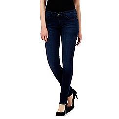 Wrangler - Blue mid wash skinny jeans