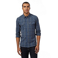 Wrangler - Big and tall blue checked shirt