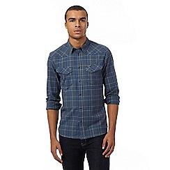 Wrangler - Big and tall blue checked shirt
