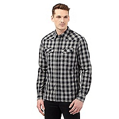 Wrangler - Big and tall black checked shirt