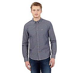 Wrangler - Grey textured slim fit shirt