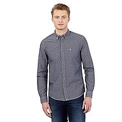 Wrangler - Grey textured slim fit shirt