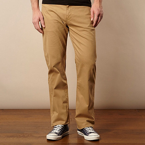 Levi+s - 751&#8482 beige twill straight leg trousers