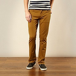 Levi's - 511 mustard slim fit twill trousers