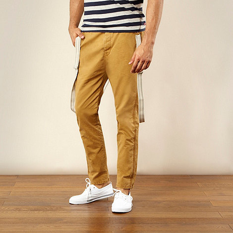 Levi+s - Dark tan slim fit chinos with braces