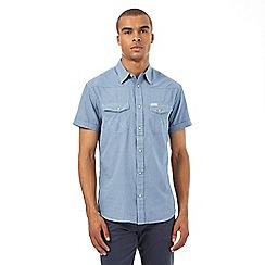 Wrangler - Navy mini checked shirt