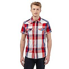 Wrangler - Red checked print short sleeved shirt