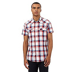 Wrangler - Big and tall red checked print shirt
