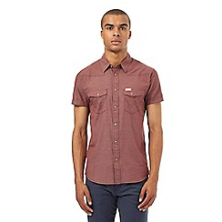 Wrangler - Big and tall red micro checked shirt