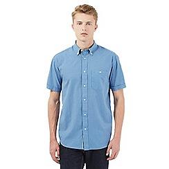 Wrangler - Blue checked print short sleeved shirt