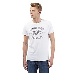 Wrangler - Big and tall white logo print crew neck t-shirt