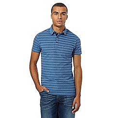 Wrangler - Big and tall navy pique polo shirt