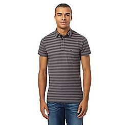 Wrangler - Big and tall grey pique polo shirt