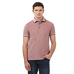 Wrangler - Big and tall red polo shirt