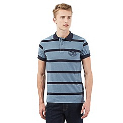 Wrangler - Big and tall grey striped polo shirt