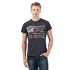Wrangler - Black faded flag print t-shirt