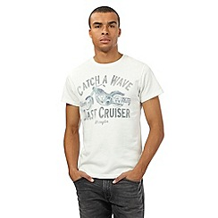 Wrangler - Big and tall off white bike print t-shirt