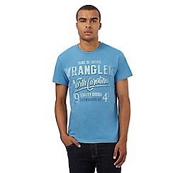 Wrangler - Big and tall blue 'North Carolina' print t-shirt