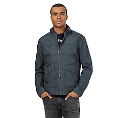 Wrangler - Big and tall dark grey shower resistant bomber jacket