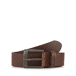 Wrangler - Big and tall brown braided belt