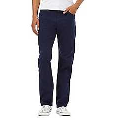 Lee - Big and tall navy cord trousers