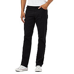 Lee - Big and tall black cord trousers