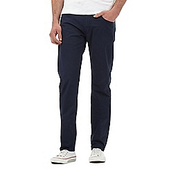 Lee - Daren navy twill slim fit stretch trousers