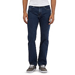 Lee - Big and tall dark blue regular fit stretch jeans