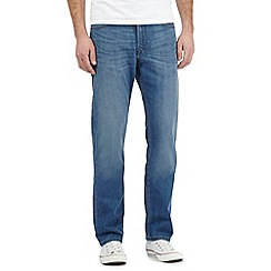 Lee - Big and tall Brooklyn blue mid wash stretch jeans
