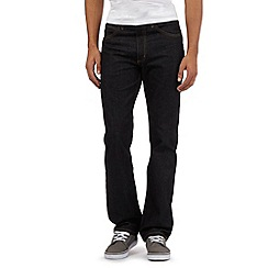 Lee - Big and tall dark blue regular fit jeans