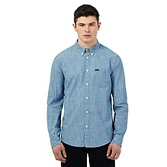 Lee - Blue long sleeved denim shirt