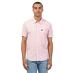 Lee - Red striped slim fit short-sleeved shirt