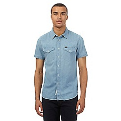 Lee - Blue western slim fit denim shirt