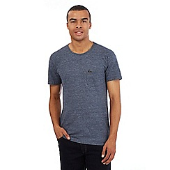 Lee - Blue chest pocket crew neck t-shirt