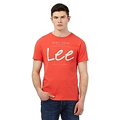 Lee - Red logo print t-shirt