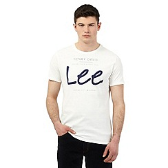 Lee - White logo print t-shirt