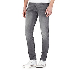 Voi - Grey mid wash skinny jeans