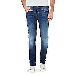 Voi - Navy mid wash skinny fit jeans