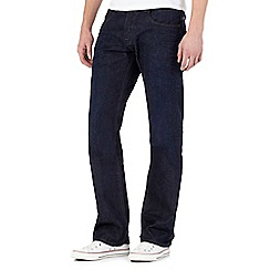Voi - Navy raw bootcut jeans
