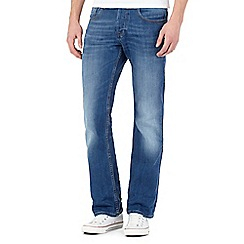 Voi - Blue raw bootcut jeans