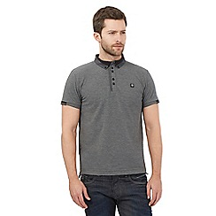 Voi - Big and tall grey geometric polo shirt