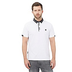 Voi - White geometric polo shirt