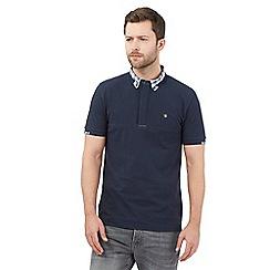 Voi - Navy checked polo shirt