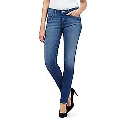 Wrangler - Corynn mid blue wash skinny leg mid waist jeans