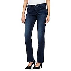 Wrangler - Drew mid wash straight leg slim mid waist jeans