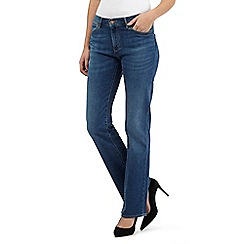 Wrangler - Mid wash bootcut high waisted jeans