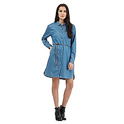 Wrangler - Blue denim shirt dress